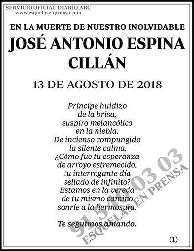 José Antonio Espina Cillán